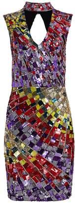 Alice + Olivia Dumont Sequin Choker Dress