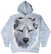 The Mountain Gray Wolf Hoodie - Unisex