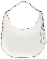 MICHAEL Michael Kors Lauryn Tasseled Metallic Whip-Stitched Large Hobo Bag