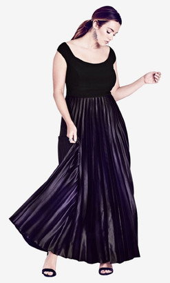 City Chic Passion Ombre Gown Maxi Dress