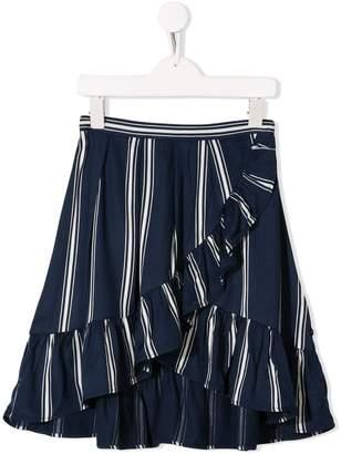 Molo Kids striped frill-trim skirt