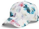 Collection XIIX Women's Tropical Print Baseball Cap - White