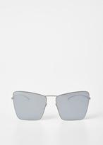 Maison Margiela Silver Mykita X Margiela Square Sunglasses