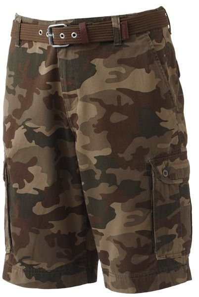 Camo G and m chicago twill belted cargo shorts - men