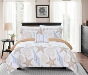 Chic Home Azure 8 Piece King Bed In a Bag Duvet Set Bedding