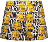 Moschino Printed Satin-Crepe Shorts