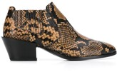 Tod's Snake-Effect Ankle Boots