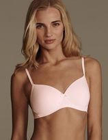 Marks and Spencer 2 Pack Cotton Rich Padded T-Shirt Full Cup Bras AA-D