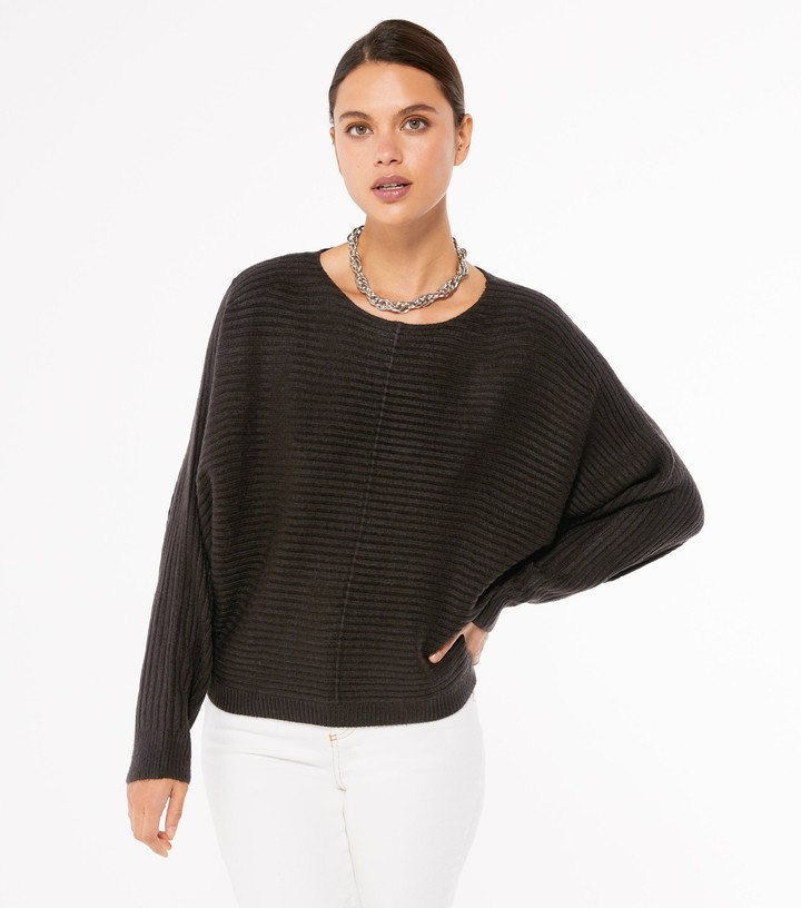 Thumbnail for your product : New Look Exposed Seam Batwing Jumper