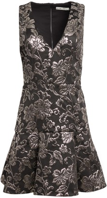 Alice + Olivia Marleen Silver Mini Dress