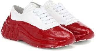 Miu Miu Painted canvas sneakers