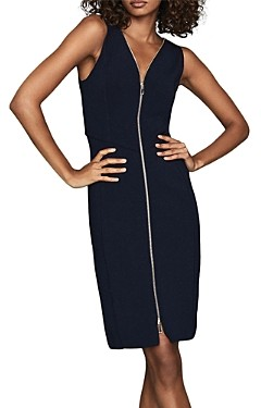 Reiss Eva Zip Knitted Bodycon Dress