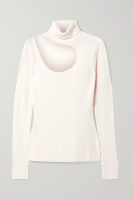 Monse Cutout Merino Wool Turtleneck Sweater - Ivory