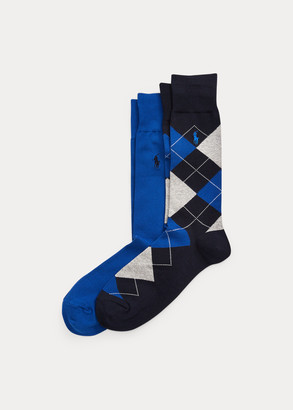 Ralph Lauren Argyle & Solid Sock 2-Pack