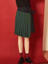 Blank Pleats Layered Skirt-gn