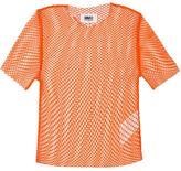 MM6 MAISON MARGIELA fishnet T-shirt - women - Polyamide/Spandex/Elastane - M
