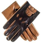 Black and Tan Leather Driving Gloves