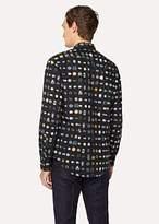 Paul Smith Men's Slim-Fit Black Shirt With 'Vintage Rings' Print