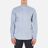 Ps By Paul Smith Grandad Collar Shirt Blue