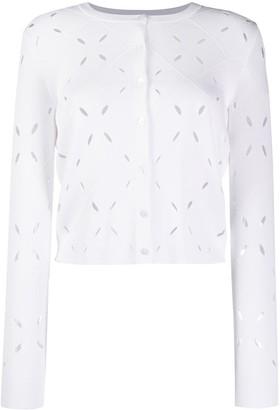 Paule Ka Perforated Cropped Cardigan