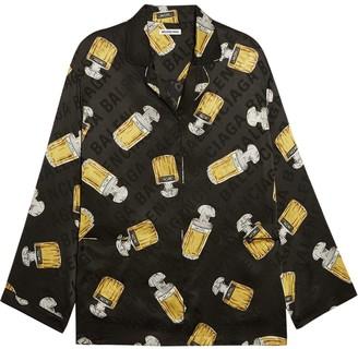 Balenciaga Silk Perfume Bottle Pajama Shirt