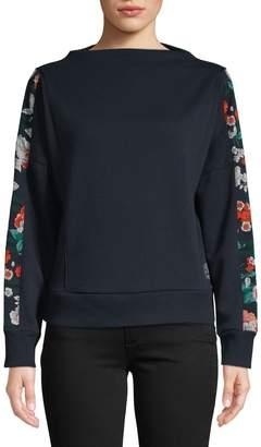 Tommy Hilfiger Floral Cotton-Blend Sweatshirt