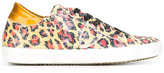 Philippe Model leopard pattern sequinned sneakers - women - Leather/PVC/rubber - 36