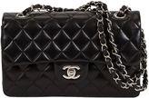 One Kings Lane Vintage Chanel Black Lambskin Double Flap Bag
