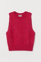 H&M Alpaca-blend Sweater Vest - Pink