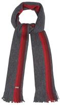 J By Jasper Conran Grey Wool Striped Edge Scarf