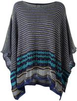 M Missoni striped poncho