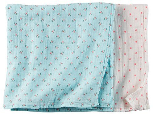 Carter's Baby Girls Oversized Muslin Swaddle Blankets by