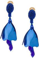 Oscar de la Renta small impatiens earrings