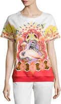 Etro Short-Sleeve Printed T-Shirt, Orange