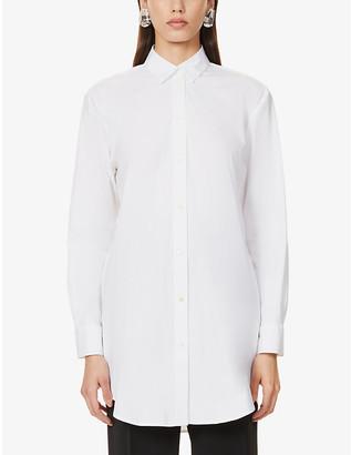 LA COLLECTION Artur oversized cotton-blend shirt