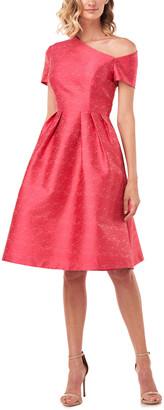 Kay Unger Bianca Textured Jacquard Midi Dress