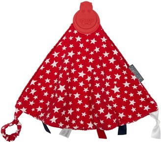 Kalencom Cheeky Chompers Red Stars 2-in-1 Teether and Sensory Blanket
