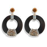 Luz Hissia ebony and topaz earrings