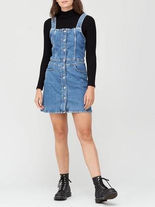 Calvin Klein Jeans Button Down Tank Dress - Blue