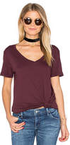LAmade Staple V Neck Tee in Burgundy. - size S (also in XS)