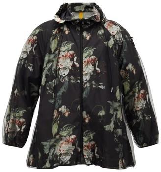 4 Moncler Simone Rocha - Thelidium Floral-print Jacket - Black