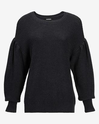 Express Drop Shoulder Blouson Sleeve Sweater