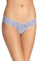 Hanky Panky Women's Check Please Low Rise Thong