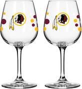 Redskins Unbranded Boelter Washington Polka-Dot Wine Glass Set
