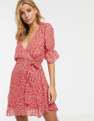 Stevie May Claret floral print mini dress