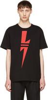 Neil Barrett Black & Red Thunderbolt T-Shirt