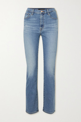 J Brand - Teagan High-rise Straight-leg Jeans - Mid denim