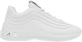 Miu Miu Embellished Studded Low Top Sneakers