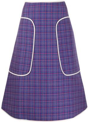 Sofie D'hoore Check-Print Midi Skirt