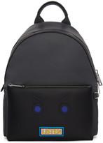 Fendi Grey and Black Faces listen Backpack